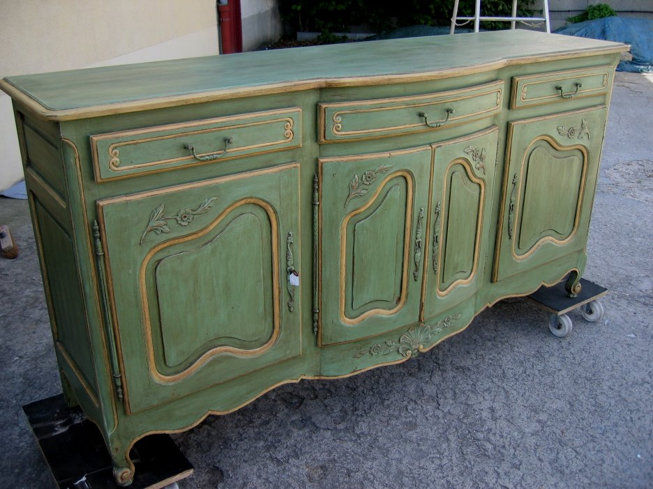 Colourful upcycled sideboards michael penney style for Painted buffet sideboard