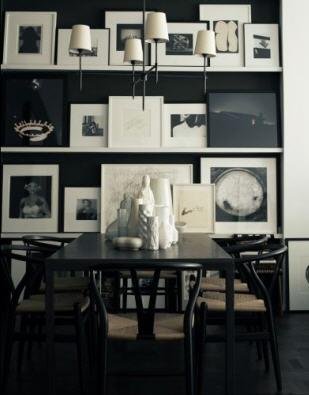 Artfully arranged to look dark and moody...