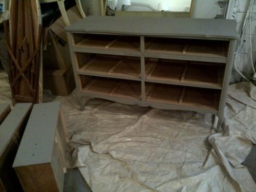 Penney & Co Antique Dresser mid-paint