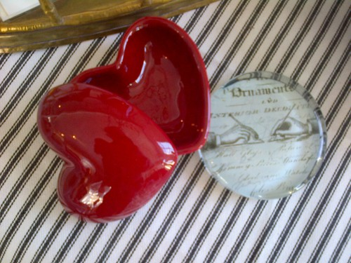 Penney & Co secret heart box $5, paperweight $8